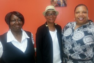 The Mason Square Health Task Force staff, l to r, Arlene Brown-Jenkins, administrative assistant, Wanda L. Givens, director, and Beatrice Dewberry, marketing, communications and outreach coordinator.