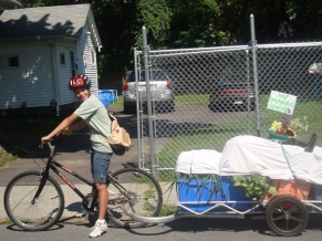 Gardening the Community saw bike delivered produce as one way to reduce their carbon foot-print while promoting healthier lifestyles.